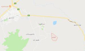 نقشه هوایی روستای مرزبن